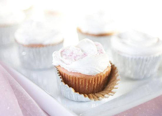Strawberry Preserve Cupcakes