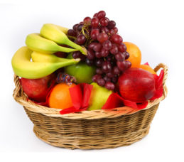 Produce Basket 30ct w/ a Dark Basket