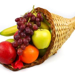 Produce Cornucopia 17ct Basket (Light Basket)