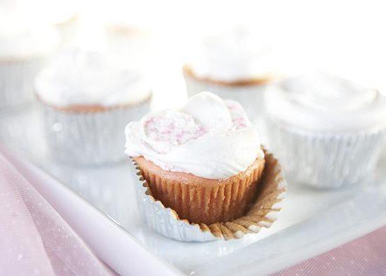 Strawberry Preserve Cupcakes