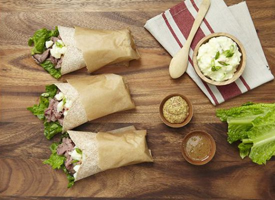 Beef and Potato Wrap